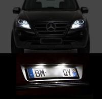 4 ampoules à LED Blanc veilleuses + feux de plaque Mercedes ML w164