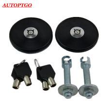 Black Mount Bonnet Hood Latch Pins Key Locking Kit For All Cars JDM Sport Racing