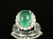 Zarter Smaragd Diamant Ring ca. 5,94ct    750/- Weißgold