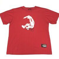VTG 90s Men's Shaq Shaquille O'Neal Reebok Slam Dunk T-Shirt Red • XL