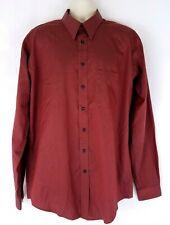 Joseph Feiss Mens Dress Shirt Size 16.5 38-39 Tall Red Burgundy Non Iron Cotton