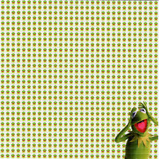 KERMIT The Frog Muppets - BLOTTER ART Perforated Sheet acid free paper art