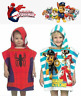 Paw Patrol Spider-Man Hooded Poncho Beach Swimming Bath Towel Kids Boys & Girls
