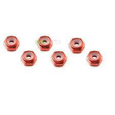 6 x bloqueo de aluminio de color rojo RC 4mm Rueda Tuercas 1/10 1/16 Tamiya Ansmann Hpi Traxxas