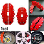 2 Pairs 3D Red Car Disc Brake Caliper Covers Front & Rear For 18.3-23.6 Wheels Alfa Romeo 147