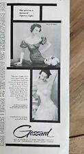 1953 girl in a Gossard girdle bra garters figures right fashion ad