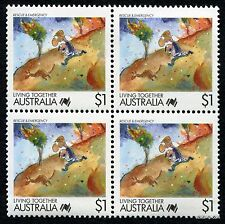 1988 Living Together Rescue & Emergency Block of Four MUH Mint Stamps Australia