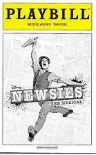 Newsies (Disney) Broadway Playbill, Opening Night Date, Jeremy Jordan