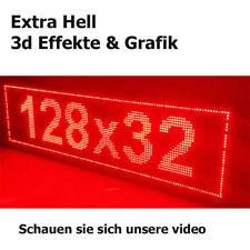 128x32 LED Laufschrift Reklame Werbeanzeige Leuchtreklame 4096 LEDs ROT