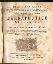 1756, Francesco Torti - MEDICINA, FEBBRE, MALARIA