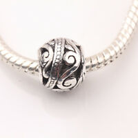 10/20Pcs Tibetan Silver Carved Round Hollow Loose Spacer Beads Jewelry DIY 10mm