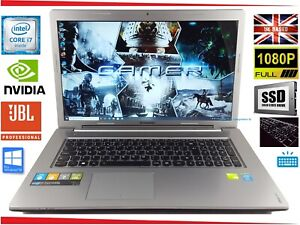 """17.3"""" Lenovo Z710 Gaming Laptop Core i7 up to 3.4GHz 16GB 240GB SSD GeForce JBL"""