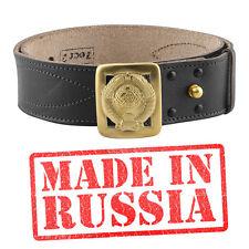 Genuine leather belt BLACK BROWN Russian military uniform RKKA USSR Officer army