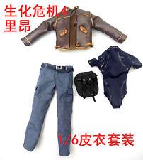 1/6 Resident Evil KO Leon Clothing Sets F 12'' Male Figure Doll