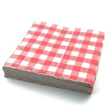 25 x Gingham MONOUSO Table Cloths parti matrimoni copritavoli 90x88cm