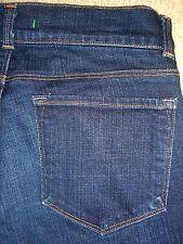 J BRAND Flare Stretch Dark Blue Denim Jeans Womens Size 28 x 34 USA