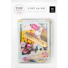Pink Paislee C'est La Vie - Die Cuts Ephemera Numbers Tags Frames Etc