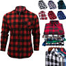 Men's Flannel Plaid Shirt Casual Long Sleeve Soft Cotton Dress Shirt Button Down