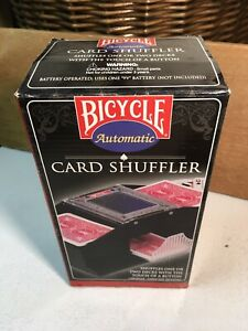 Used Bicycle Automatic Card Shuffler 2 Decks Poker Blackjack Cards