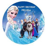 Disney Frozen Edible Premium Wafer Birthday Party Cake Decoration Topper Image
