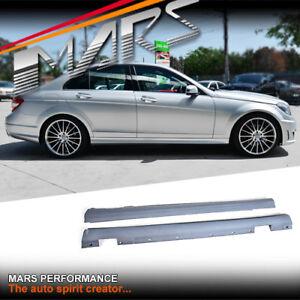 AMG C63 Style Side Skirts for Mercedes-Benz C-Class W204 Sedan & Wagon 07-14