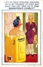 POSTCARD  COMIC  BAMFORTH  ( LBT )  No  1180    Washing  Machine