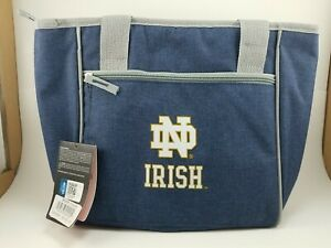 NEW! Logo Brands Notre Dame Fighting Irish Insulated 16 Can Cooler Tote 10x10x6