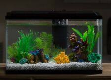 10 Gallon Aquarium Starter Kit Led Lighting Light Fish Pet Aqua Water Tank Decor