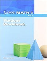 Grade 3 Saxon Math Student Workbook Part 1 3rd Edition