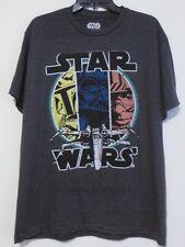 Star Wars NEW Men's Large T-shirt - Disney NWT Luke Darth Vader Boba Fett - Gray