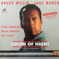 COLOR OF NIGHT WS VF PAL LASERDISC Bruce Willis, Jane March, Rubén Blades 2 DISC