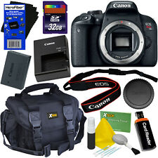 Canon EOS Rebel T7i Digital SLR Camera (Body Only) + 32GB Card + Case + Acc Kit