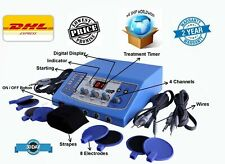 Advanced Electrotherapy 4 Channels Equipment Physical Therapy Compact Unit HSF@
