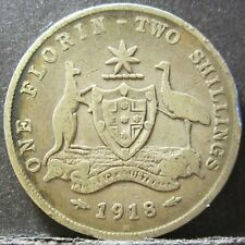 1918 Australia 2/- Two Shillings One Florin #RB1807-56
