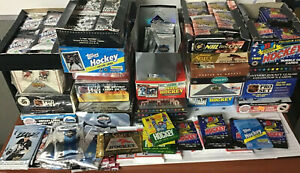 1979-2019 LOT (100+) Hockey - 50 cards (Sealed Packs) + 50 cards (Mystery) /MAD