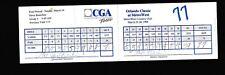 Steve Beuerlein & Happy Hairston signed CGA Scorecard 96 Orlando Classic CAS COA