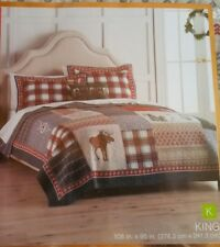 """St Nicholas Square """"JOY"""" KING Reversible Quilt NEW 108 x 95 Holiday Collection"""