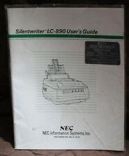 NEC Silentwriter LC-890 User Guide