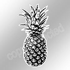 funny car bumper sticker black and white pineapple fruit vinyl decal 63 x 125mm