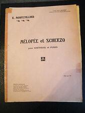 Partitura Canto y Scherzo para Oboe y el Piano Monfeuillard