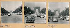 PARIS 1960 - 7 Photos Champs Elysées Circulation Autos - PL 1014
