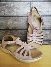 Hotter Comfort Concept Size 5.5 Lilac Leather Nubuck Sandals Touch-close Fasten