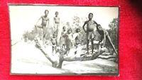 1920's  real photo aboriginal children Darwin northern territory