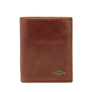 Genuine FOSSIL Ryan RFID Coin Cardcase Bifold Brown Leather Wallet ML3731201