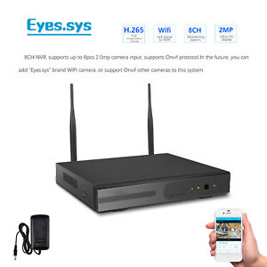 1080P H.265 8CH Wireless HDMI ONVIF 2MP NVR For eyes.sys WIFI CCTV IP Camera