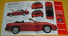 1990 91 1989 Mazda RX-7 Convertible red Turbo II 2 1308cc FI IMP Info/Specs 15x9