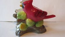 "Glazed Ceramic Cardinal Napkin Letter Holder ~ Red ~ 6.5"" L x 5.25""H x 3.5""W ~"