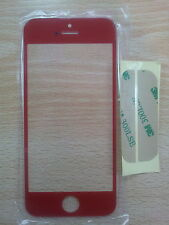 Cristal de Pantalla Digitalizador para Apple Iphone 5 5G 5S 5C Rojo + Adhesivo