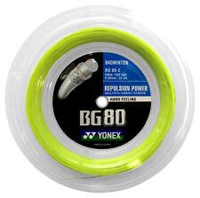Genuine Yonex BG80 Badminton Racket String - 200m Reel - Yellow