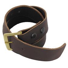 Handmade Medieval Gentry Simple Leather Renaissance Belt Brown Large